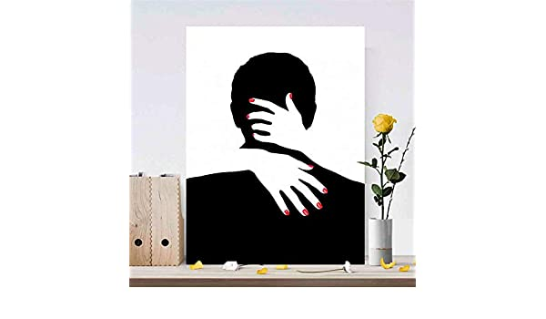 RTCKF Abstract Lover Hug Poster y Wall Art Print Lienzo ...