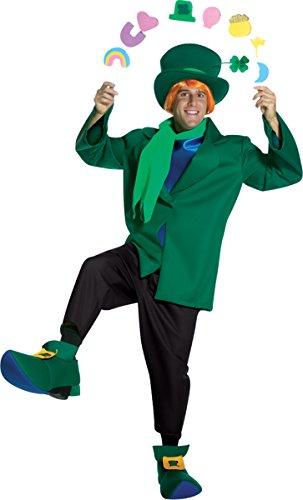 [Lucky Charms Adult Costume - One Size] (Womens Lucky Leprechaun Costume)