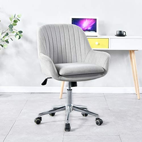 Upgrade Modern Home Office Desk Chairs 360 Swivel,Comfort Fabric Upholstery,Accent Chair