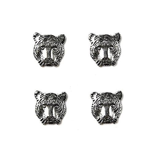 Quality Handcrafts Guaranteed Tiger Tuxedo Studs by Quality Handcrafts Guaranteed