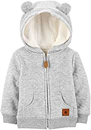 Simple Joys by Carter's Baby Boys' Hooded Sweater Jacket with Sherp