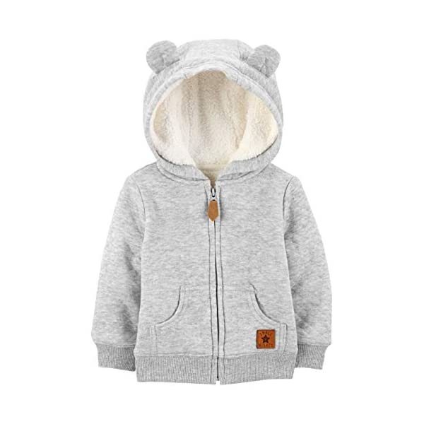 Simple Joys by Carter's Baby Boys' Hooded Sweater Jacket with Sherpa...