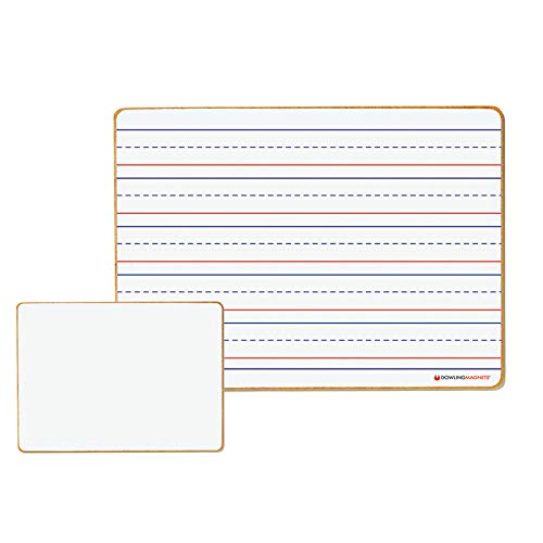 Dowling Magnets DO-72500025BN Magnetic Dry-Erase Lined & Blank Board44; Pack of 6
