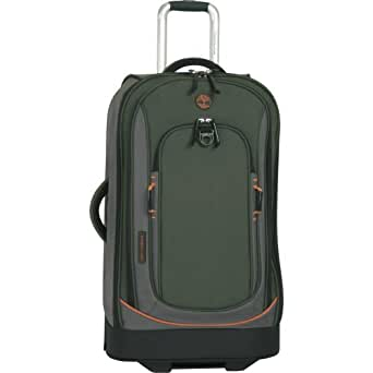 Timberland Luggage Claremont 26-Inch Upright Suitcase, Olive/Orange, One Size