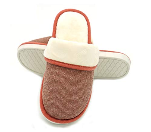 Shoes Women's Soft Red House Slip Anti Mobnau Slippers Bedroom Cozy nFqvOAx