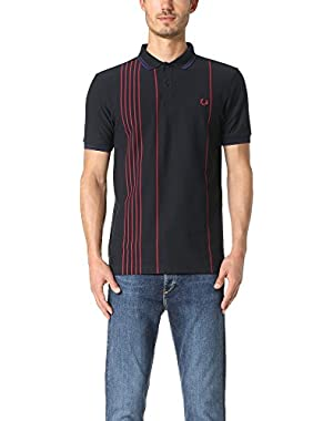 Men's Vertical Stripe Pique Shirt