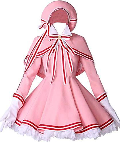 (Poetic Walk Anime Card Captor Sakura Cosplay Halloween Kinomoto Sakura Dress (Small, A)