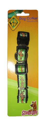 Scooby Doo Medium Adjustable Green Collar with Clip & Ring