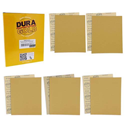 10 Lijas Dura-Gold 23cm x 28cm Grano Surtido 80 a 320