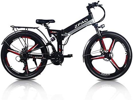 ZPAO Bicicleta eléctrica Plegable KB26 de 26 Pulgadas, batería de ...