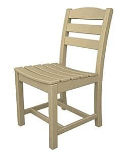 """Pack de 2reciclado al aire libre Patio sillas de comedor ecológico–arena marrón–34"""""""
