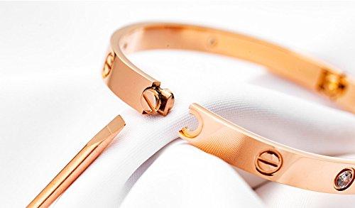 BESTJEW Womens Love Bracelet Stainless Steel Cuff Bangle Bracelet with Screwdriver by BESTJEW (Image #3)