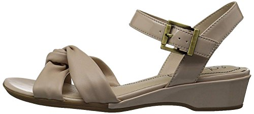 LifeStride Womens Monaco Open Toe Casual Ankle Strap, Soft Taupe, Size 8.0 -