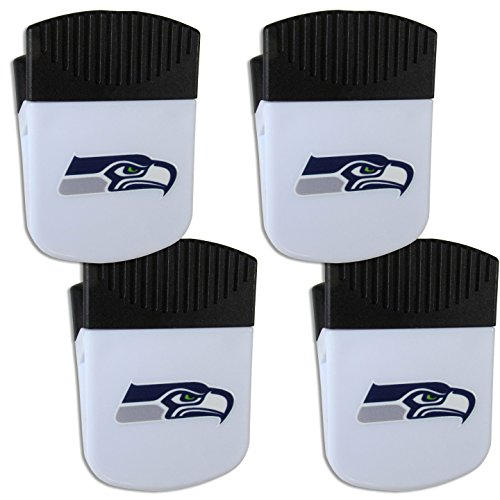 Siskiyou NFL Seattle Seahawks Chip Clip Magnet with Bottle Opener, 4 (Seattle Seahawks Clip)