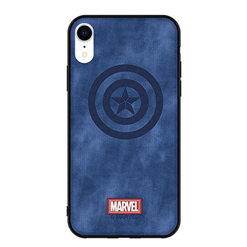 iPhone XR Case - Unique Marvel Avengers Infinity War Premium Soft Leather Thin Slim Fit Soft Grip Hybrid Bumper Full Body Shockproof Protective Cover Cases Compatible Apple iPhone XR 6.1 inch (B) ()