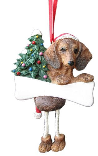 Dachshund Ornament Red with Unique