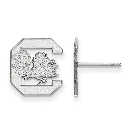 (Jewelry Stores Network South Carolina Gamecocks School Letter Logo Post Earrings in Sterling Silver S - (12 mm x 11 mm))