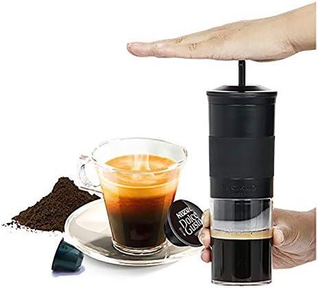 Light Espressomaschine Manuell Kaffeemaschine Tragbare Kompatibel mit Kaffee und Kapsel Ideal für Campaing Hiking Büros oder Zuhause