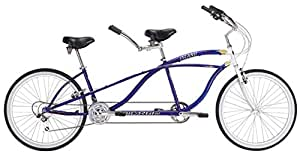 "J Bikes by Micargi Island 26"" 18-Speed 2-Seater Tandem Bicycle Beach Cruiser Bike - Blue"