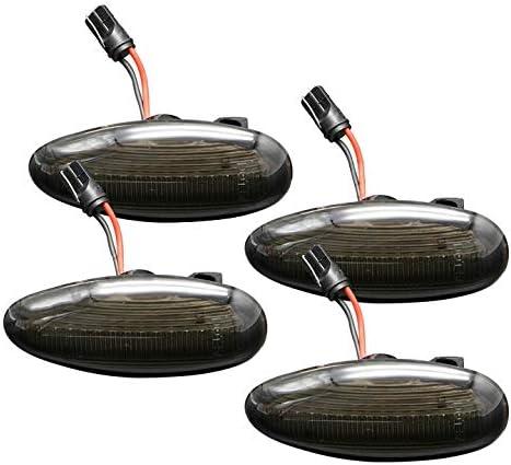 Smoked Lens LED Side Marker Lamps for 2001-2014 Chevrolet Silverado//GMC Sierra 2500HD 3500HD Trunk Amber//Red LED OEM Side Marker Double Wheel Side Fenders Lights Set