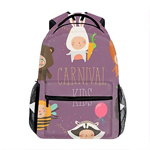 (3D Printing Cute Kids Wearing Animal Costumes School Bookbag Travel Backpack)