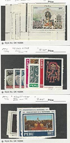 Peru, Postage Stamp, C298//C325 Mint NH, 1970-71, JFZ