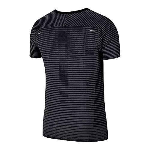 Nike TechKnit Ultra Men's Running Shorts Sleeve Top T-Shirts CJ5344-010 Size L 2