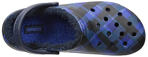 Classic Blue Cerulean Graphic Sabot Lined Crocs Clog Navy MainApps B1qx1v5g8w