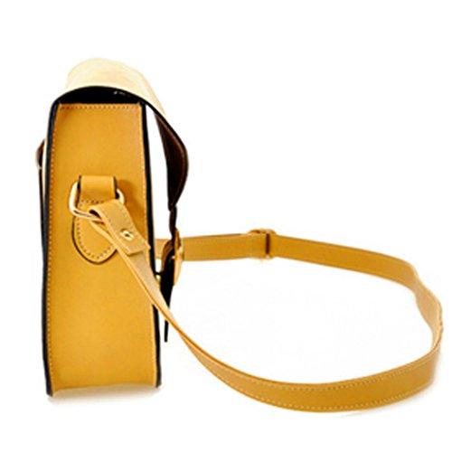 Tote Bag - All4you señora diseñador bolso bandoleras Messager monedero bolso en Style(Yellow) muy buen gusto Amarillo