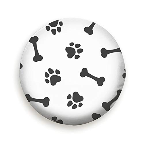 Bones Traces Paws Animals Wildlife Dog Universal Spare Wheel Tire Cover Fit for Truck Camper Van,Jeep,Trailer, Rv, SUV Trailer Accessories