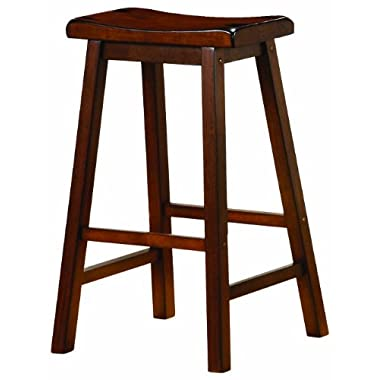 Coaster 24-Inch Dining Barstool, Walnut Set of 2