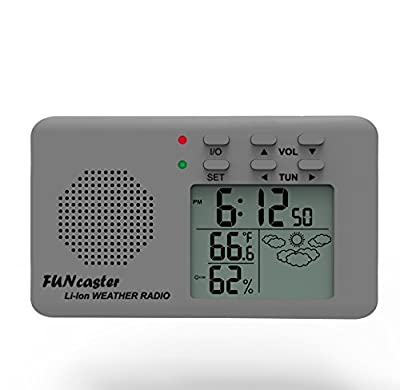 FUNcaster Golf Cart Weather Display Radio w/Cell Charger
