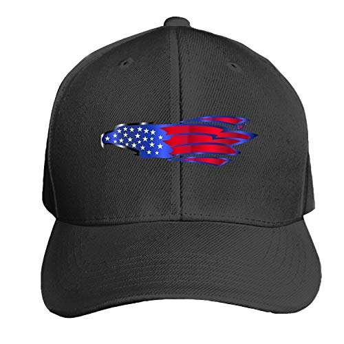 (Eagle Abstract American Unisex Washed Twill Baseball Cap Adjustable Peaked Sandwich Hat)