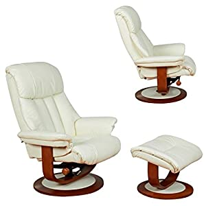 The Hereford - Genuine Top Grain Leather Swivel Recliner Chair (Pearl)  sc 1 st  Amazon UK & The Hereford - Genuine Top Grain Leather Swivel Recliner Chair ... islam-shia.org