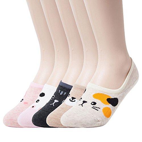 Sockstheway Womens Anti-Slip No Show Socks, Best Low Cut Liner Socks CAMO (5P, Set)