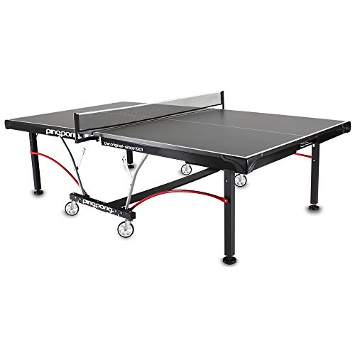 Ping-Pong Elite II Table Foldable Regulation Size Tennis Table w/ Caster Wheels