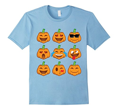 Mens Pumpkin Face Shirt - Smiley Pumpkin Shirt Halloween Costume Small Baby Blue