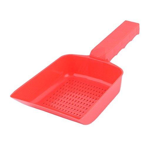 eDealMax Gatto di plastica del cucciolo del Cane antiscivolo animali e oggetti per pulizia pala Sabbia rifiuti Scoop Red