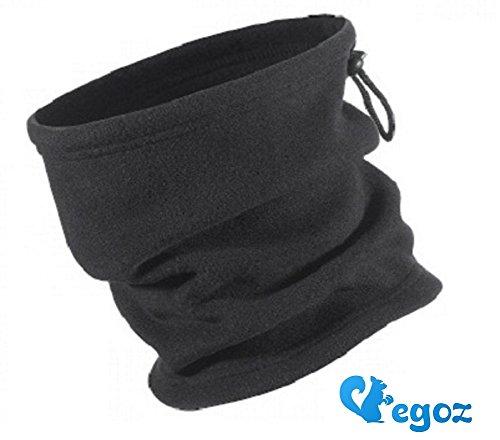 Egoz Pistachio Jeunesse Size 4-en-1 Micro Polaire cache-cou   Masque    Chapeau Snood   écharpe militaire Fleece Neck Warmer Black visage chaud  thermiques ... adcfebe6413