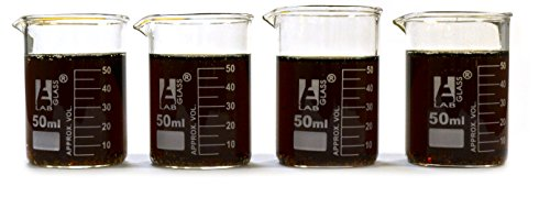 Eisco Labs Beaker Shot Glasses - 1.6oz/50mL - Lab Quality Borosilicate Glass - Set of 4 by EISCO