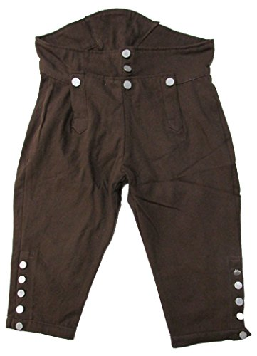 Military Uniform Supply Reproduction Revolutionary War Era Breeches - Brown - 44]()