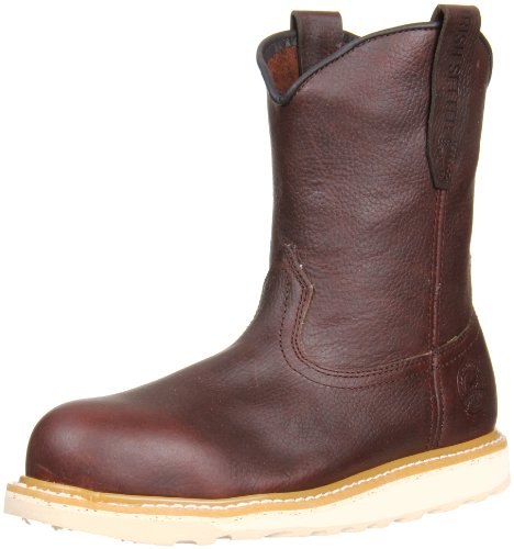 Irish Setter Men's 83908 Wellington Aluminum Toe Work Boot, Brown, 10.5 D (Waterproof Wellington Pull)