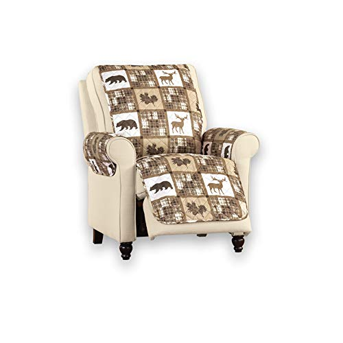 Collections Etc Reversible Woodland Animal Patch Furniture Protector to Protect Furniture from Wear and Tear, Spills and Pet Hair