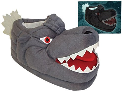 Toy Vault Godzilla Glow in the Dark Plush Slippers by Toy Vault ()