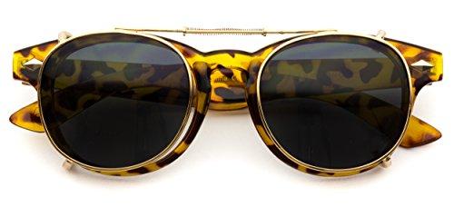 Fashion Vintage Clip On Lens Retro - On Vintage Sunglasses Clip