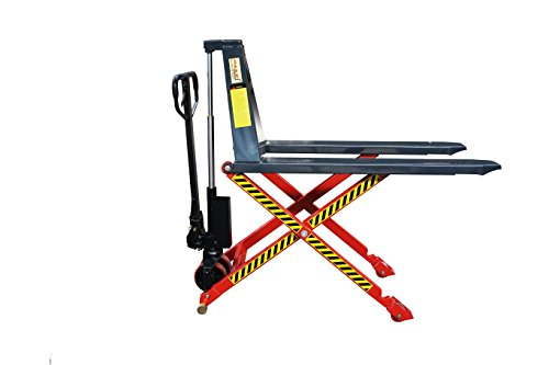 Pake Handling Tools - Manual High Lift Pallet Jack, 3300lbs Capacity (Pallet High Manual Truck Lift)