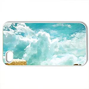Hay Field - Case Cover for iPhone 4 and 4s (Fields Series, Watercolor style, White)