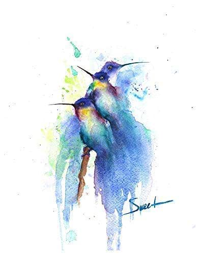 Numbered and signed by artist. Hummingbird Limited Edition Water Color Prints 100 max