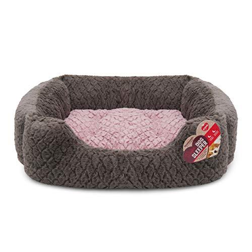 Rosewood Fabric Reversible Cushion Square Plush Dog Bed