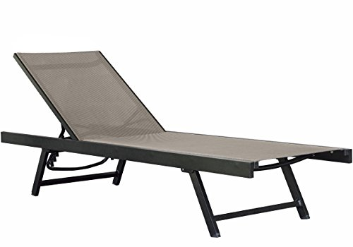 - Vivere Aluminum Urban Sun Lounger, Cocoa